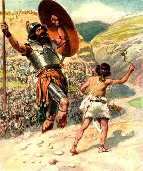 Une histoire abrégée de l`Ancien Testament – (avec images et cartes géographiques) Goliath_tissot