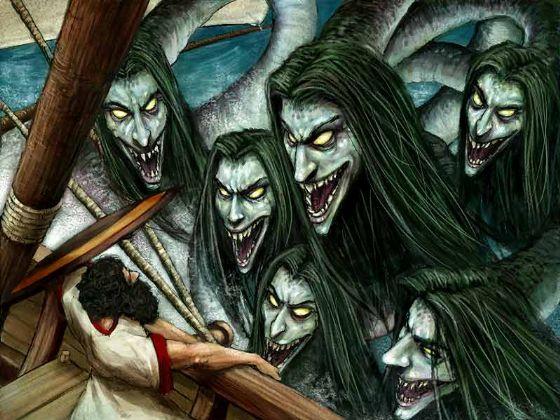 MYTHOLOGIE, CONTES ET LEGENDES... Scylla2