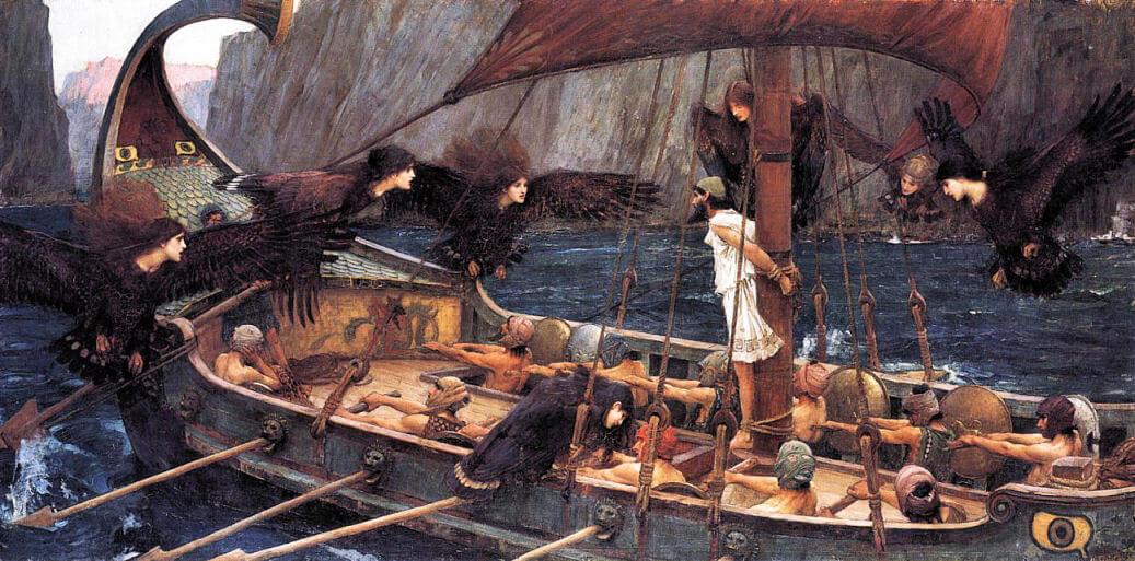 illustration ulysse et les sirènes