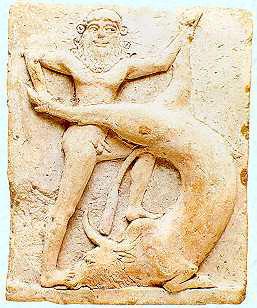 Gilgamesh terrassant un taureau